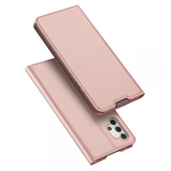 Husa Premium Flip Cover DuxDucis Skin Pro Compatibila Cu Samsung Galaxy A32 5G, Roz imagine itelmobile.ro 2021