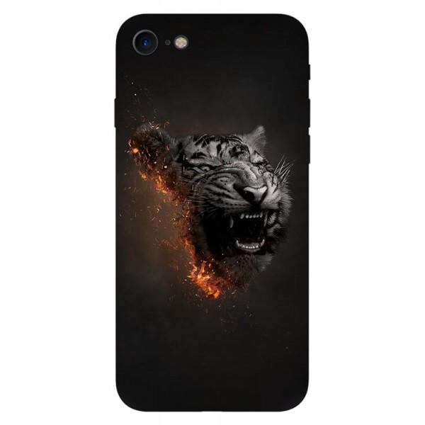 Husa Silicon Soft Upzz Print Compatibila Cu Iphone 7/ Iphone 8 Model Tiger imagine itelmobile.ro 2021
