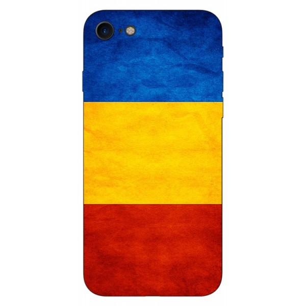 Husa Silicon Soft Upzz Print Compatibila Cu Iphone 7/ Iphone 8 Model Tricolor imagine itelmobile.ro 2021