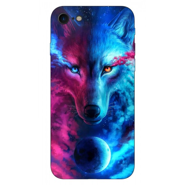 Husa Silicon Soft Upzz Print Compatibila Cu Iphone 7/ Iphone 8 Model Wolf imagine itelmobile.ro 2021