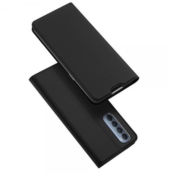 Husa Premium Flip Cover DuxDucis Skin Pro Compatibila Cu Oppo Reno 4 Pro 5G, Negru imagine itelmobile.ro 2021