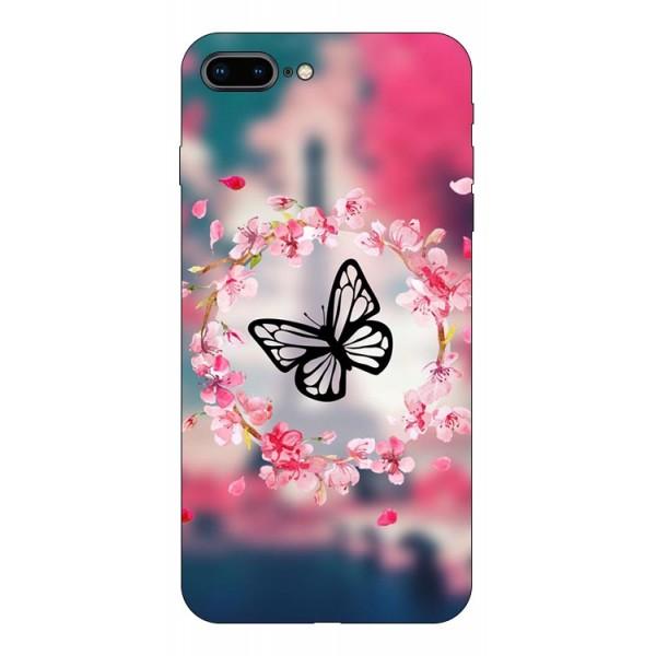 Husa Silicon Soft Upzz Print Compatibila Cu Iphone 7 Plus/ Iphone 8 Plus Model Butterfly imagine itelmobile.ro 2021