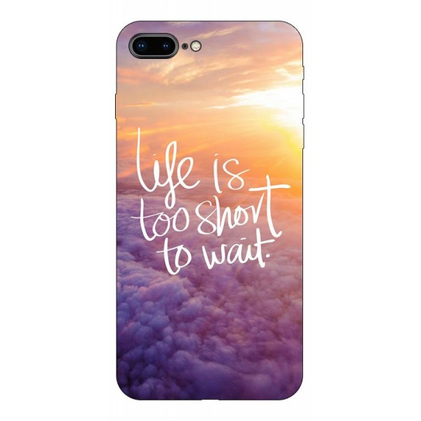 Husa Silicon Soft Upzz Print Compatibila Cu Iphone 7 Plus/ Iphone 8 Plus Model Life imagine itelmobile.ro 2021