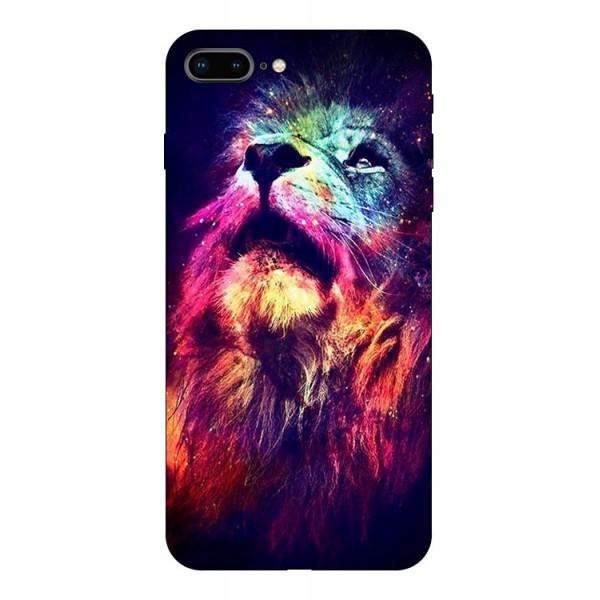 Husa Silicon Soft Upzz Print Compatibila Cu Iphone 7 Plus/ Iphone 8 Plus Model Neon Lion imagine itelmobile.ro 2021