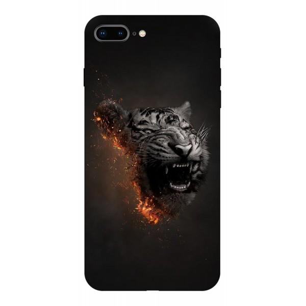 Husa Silicon Soft Upzz Print Compatibila Cu Iphone 7 Plus/ Iphone 8 Plus Model Tiger imagine itelmobile.ro 2021