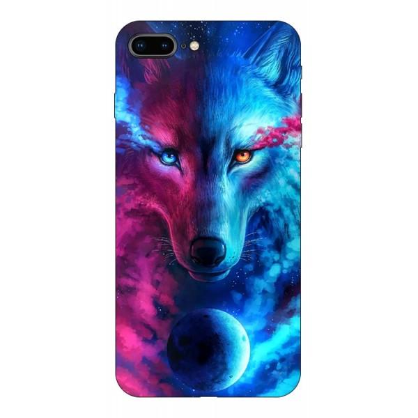 Husa Silicon Soft Upzz Print Compatibila Cu Iphone 7 Plus/ Iphone 8 Plus Model Wolf imagine itelmobile.ro 2021