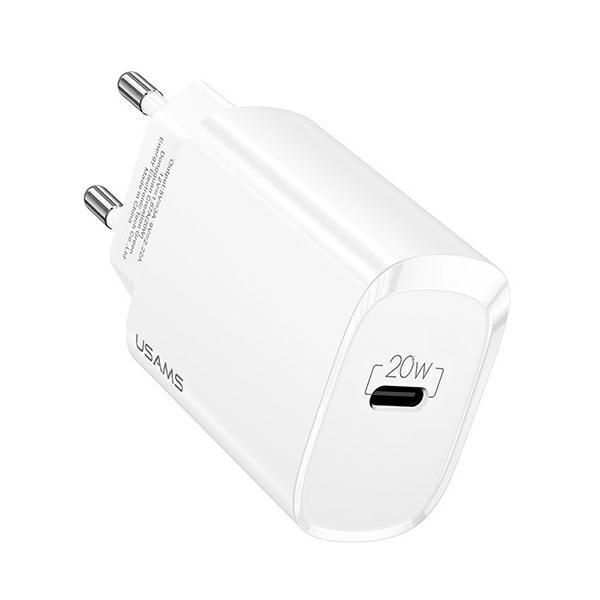 Incarcator Retea Fast Charger Usams 20W, PD 3.0, Compatibil Cu iPhone 12 / 12 Pro / 12 Pro Max , S21 / 21 Plus / S21 Ultra imagine itelmobile.ro 2021