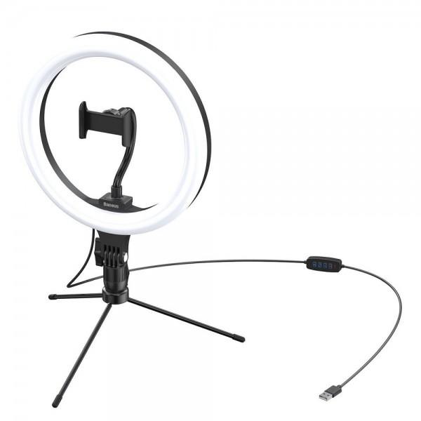"Lampa Circulara Ring Light Led Baseus Pentru Birou, Dimensiune 10"", Negru - CRZB10-A01 imagine itelmobile.ro 2021"