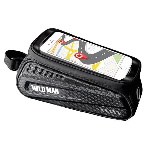 """Geanta Bicicleta Impermeabila Cu Suport Pentru Telefon Pentru Cadru - Wildman Es3 1L 4"""" - 7' imagine itelmobile.ro 2021"""