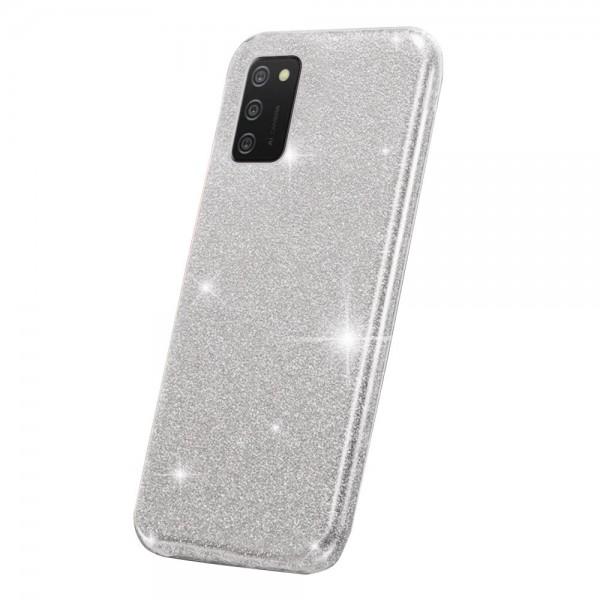 Husa Spate Upzz Shiny Compatibila Cu Samsung Galaxy A02s, Silver imagine itelmobile.ro 2021