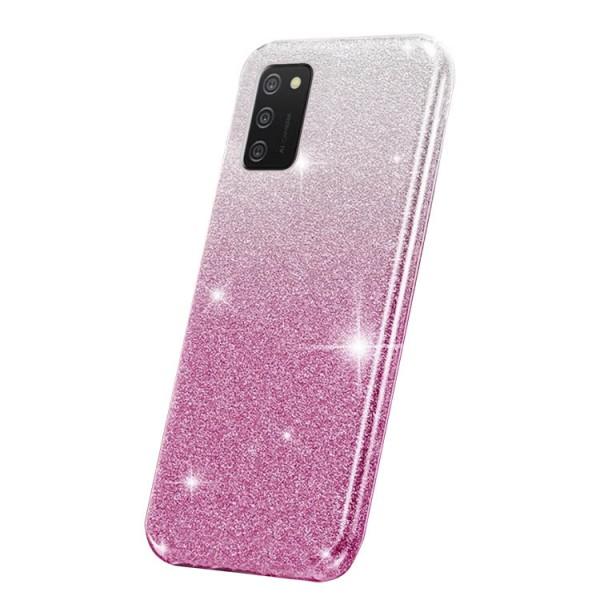 Husa Spate Upzz Shiny Compatibila Cu Samsung Galaxy A02s, Silver Roz imagine itelmobile.ro 2021