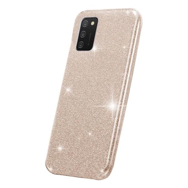 Husa Spate Upzz Shiny Compatibila Cu Samsung Galaxy A02s, Gold imagine itelmobile.ro 2021