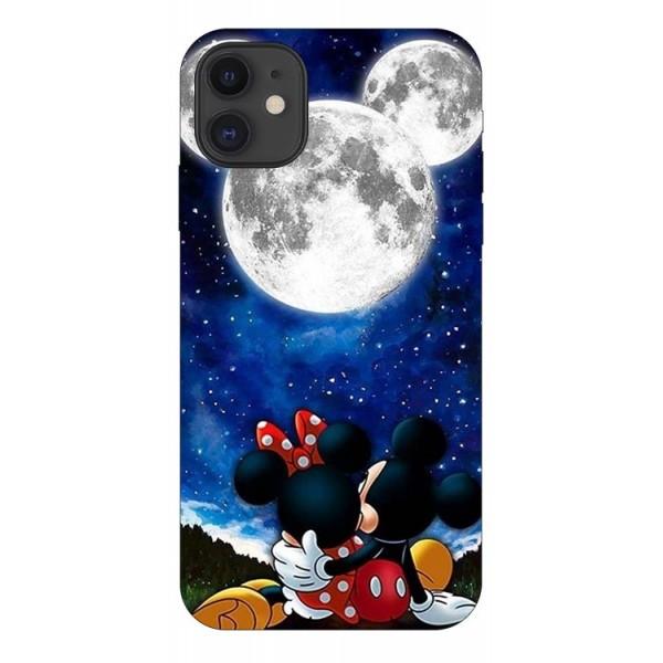 Husa Silicon Soft Upzz Print Compatibila Cu iPhone 11 Model Moon imagine itelmobile.ro 2021