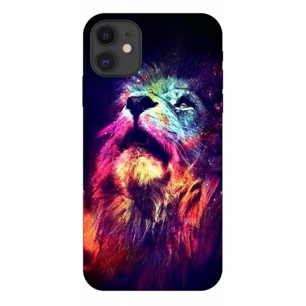 Husa Silicon Soft Upzz Print Compatibila Cu iPhone 11 Model Neon Lion imagine itelmobile.ro 2021