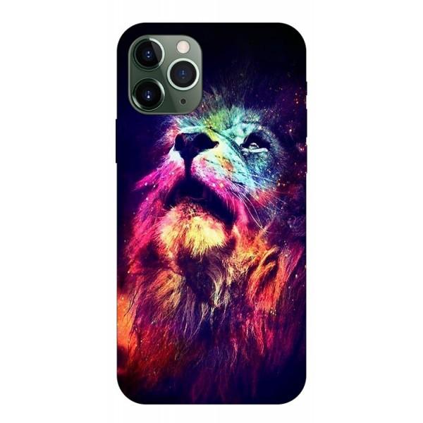 Husa Silicon Soft Upzz Print Compatibila Cu iPhone 11 Pro Max Model Neon Lion imagine itelmobile.ro 2021
