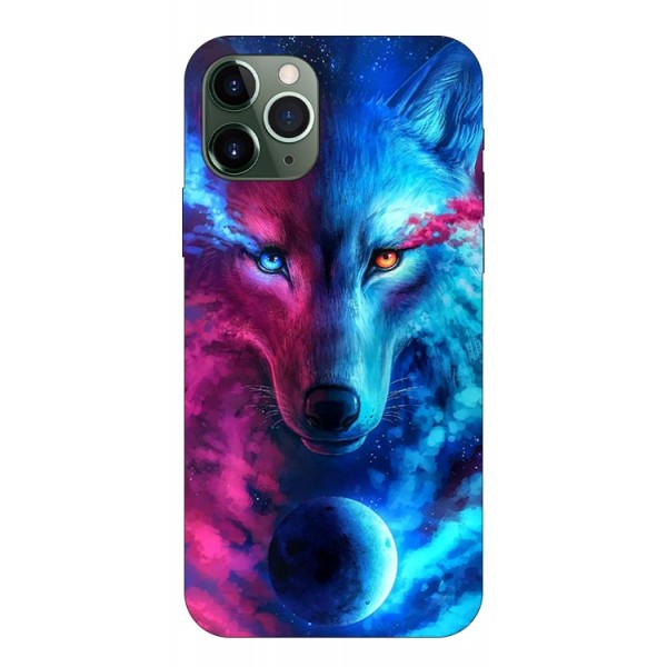 Husa Silicon Soft Upzz Print Compatibila Cu iPhone 11 Pro Max Model Wolf imagine itelmobile.ro 2021