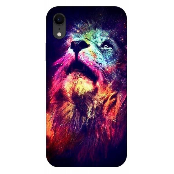 Husa Silicon Soft Upzz Print Compatibila Cu iPhone Xr Model Neon Lion imagine itelmobile.ro 2021