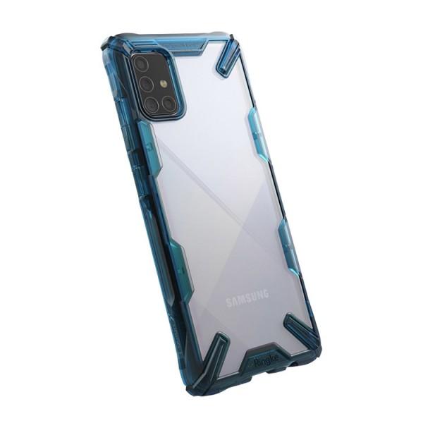 Husa Premium Ringke Fusion Compatibila Cu Samsung Galaxy M31s, Albastru imagine itelmobile.ro 2021