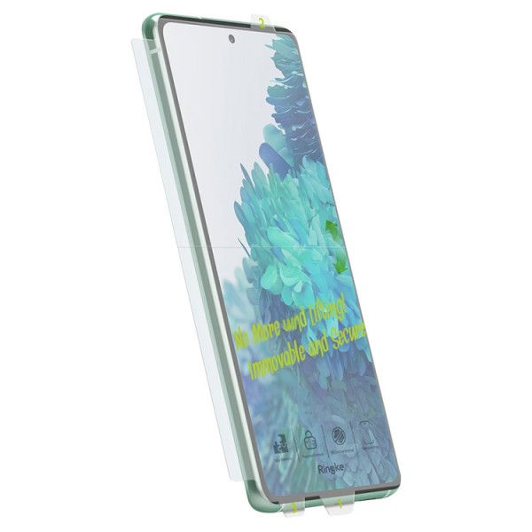 Folie Premium Full Cover Ringke Dual Easy Compatibil Cu Samsung Galaxy M31s, Transparenta -2 Bucati In Pachet imagine itelmobile.ro 2021