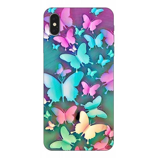 Husa Silicon Soft Upzz Print Compatibila Cu iPhone Xs Max Model Colorfull Butterflies imagine itelmobile.ro 2021