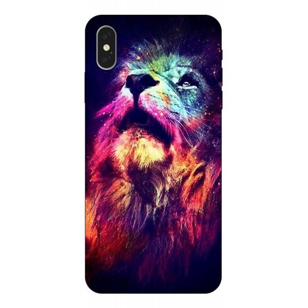 Husa Silicon Soft Upzz Print Compatibila Cu iPhone Xs Max Model Neon Lion imagine itelmobile.ro 2021