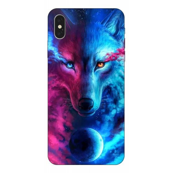 Husa Silicon Soft Upzz Print Compatibila Cu iPhone Xs Max Model Wolf imagine itelmobile.ro 2021