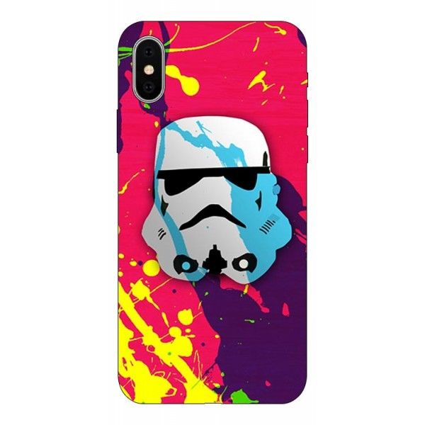 Husa Silicon Soft Upzz Print Compatibila Cu iPhone X/ iPhone Xs Model Helmet imagine itelmobile.ro 2021