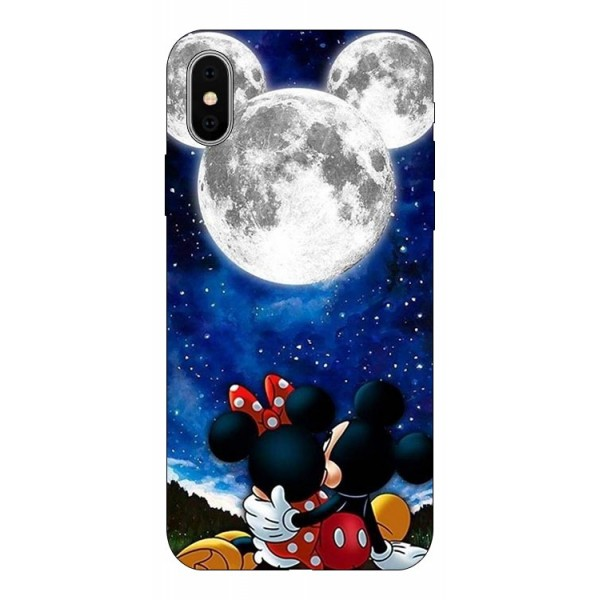 Husa Silicon Soft Upzz Print Compatibila Cu iPhone X/ iPhone Xs Model Moon imagine itelmobile.ro 2021
