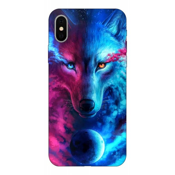 Husa Silicon Soft Upzz Print Compatibila Cu iPhone X/ iPhone Xs Model Wolf imagine itelmobile.ro 2021