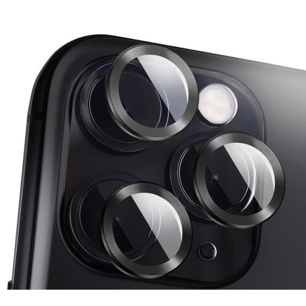 Protectie Premium Mr. Monkey Pentru Camera Din Aluminiu Si Sticla Securizata Compatibila Cu iPhone 12 Pro - Negru imagine itelmobile.ro 2021