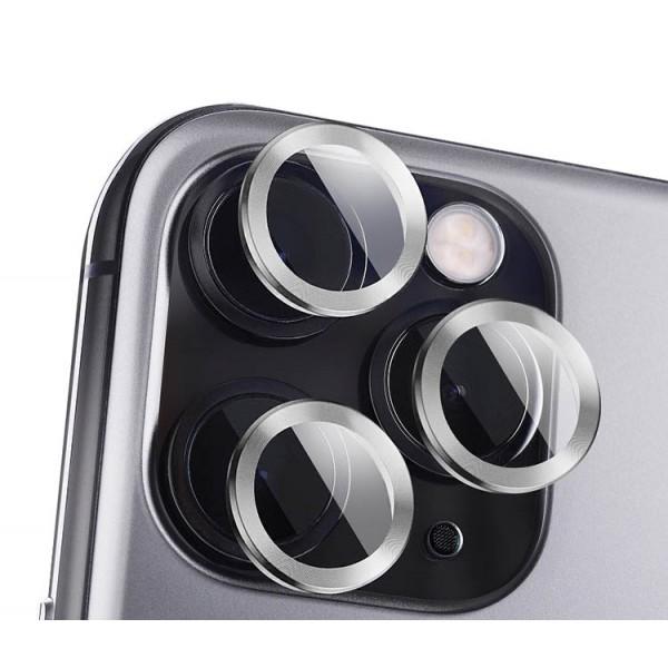Protectie Premium Mr. Monkey Pentru Camera Din Aluminiu Si Sticla Securizata Compatibila Cu iPhone 12 Pro - Silver imagine itelmobile.ro 2021