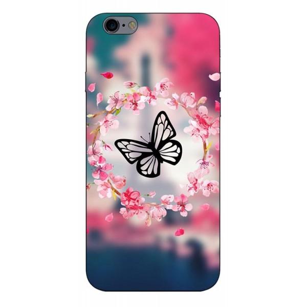 Husa Silicon Soft Upzz Print Compatibila Cu iPhone 6 Plus/ iPhone 6s Plus Model Butterfly imagine itelmobile.ro 2021