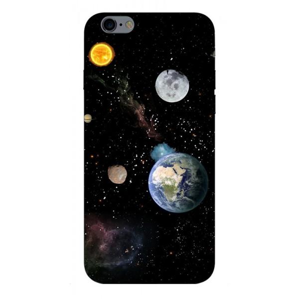 Husa Silicon Soft Upzz Print Compatibila Cu iPhone 6 Plus/ iPhone 6s Plus Model Earth imagine itelmobile.ro 2021