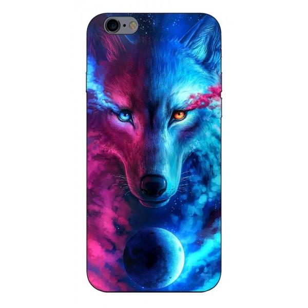 Husa Silicon Soft Upzz Print Compatibila Cu iPhone 6 Plus/ iPhone 6s Plus Model Wolf imagine itelmobile.ro 2021