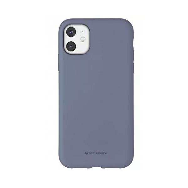 Husa Spate Mercury Goospery Silicone iPhone 11, Interior Alcantara Lavander Grey imagine itelmobile.ro 2021