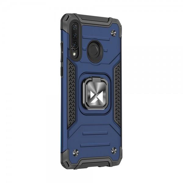 Husa Premium Ring Armor Wozinsky Pentru Huawei P30 Lite, Antishock Cu Ring Metalic Pe Spate - Albastru imagine itelmobile.ro 2021