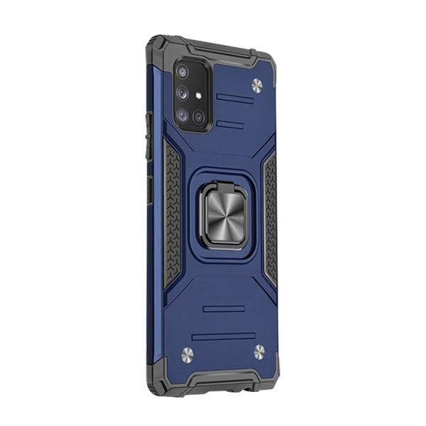 Husa Premium Ring Armor Wozinsky Pentru Samsung Galaxy A71, Antishock Cu Ring Metalic Pe Spate - Albastru imagine itelmobile.ro 2021