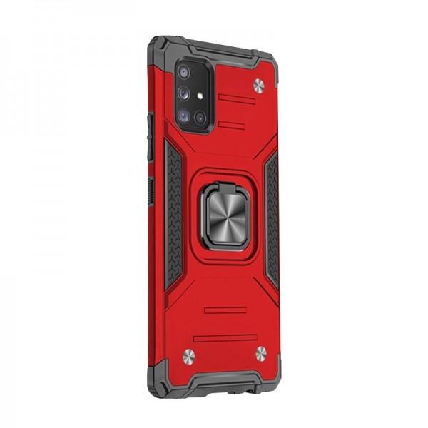 Husa Premium Ring Armor Wozinsky Pentru Samsung Galaxy A71, Antishock Cu Ring Metalic Pe Spate - Rosu imagine itelmobile.ro 2021