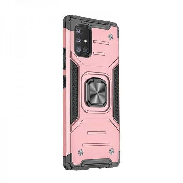 Husa Premium Ring Armor Wozinsky Pentru Samsung Galaxy A71, Antishock Cu Ring Metalic Pe Spate - Roz imagine itelmobile.ro 2021