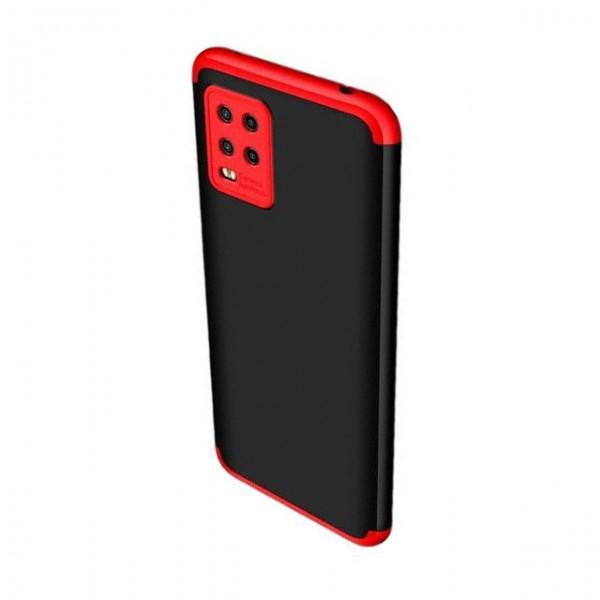 Husa 360 Grade Upzz Protection Compatibila Cu Xiaomi Mi 10 Lite - Negru Rosu imagine itelmobile.ro 2021