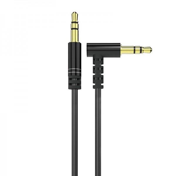 Cablu Audio Aux Jack La Jack 3.5mm Dudao 1m Lungime Negru, 1 X Cap 90 Grade imagine itelmobile.ro 2021