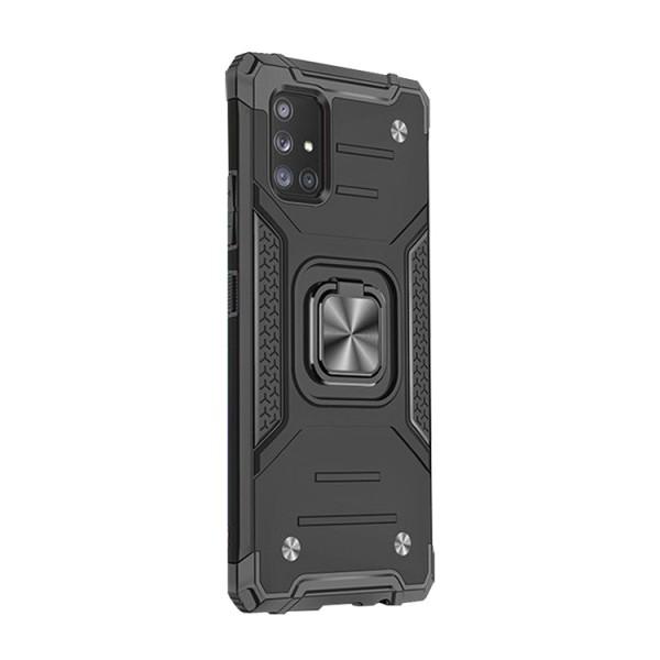 Husa Premium Ring Armor Wozinsky Pentru Samsung Galaxy A21s, Antishock Cu Ring Metalic Pe Spate - Negru imagine itelmobile.ro 2021