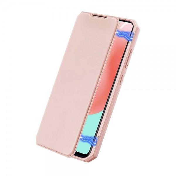 Husa Premium Duxducis Skin X Flip Cover Compatibila Cu Samsung Galaxy A41, Roz imagine itelmobile.ro 2021