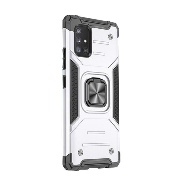 Husa Premium Ring Armor Wozinsky Pentru Samsung Galaxy A71, Antishock Cu Ring Metalic Pe Spate - Silver imagine itelmobile.ro 2021
