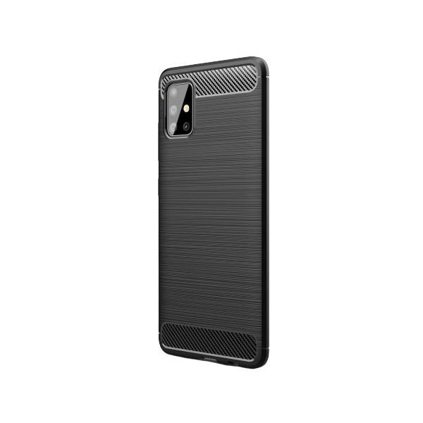 Husa Spate Upzz Carbon Pro Compatibila Cu Samsung Galaxy A51 Negru imagine itelmobile.ro 2021
