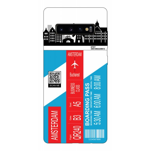 Husa Silicon Soft Upzz Print Travel Compatibila cu Samsung Galaxy S10+ plus Model Amsterdam imagine itelmobile.ro 2021