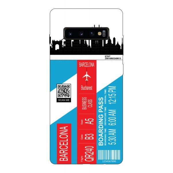 Husa Silicon Soft Upzz Print Travel Compatibila cu Samsung Galaxy S10+ plus Model Barcelona imagine itelmobile.ro 2021