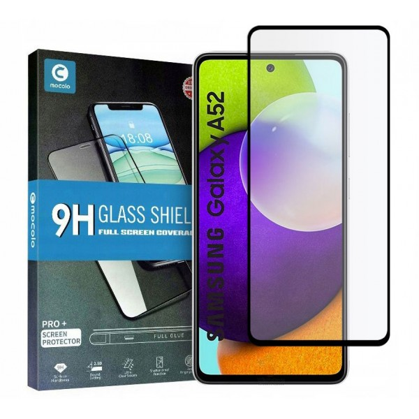 Folie Sticla Full Cover Full Glue Mocolo Compatibila Cu Samsung Galaxy A52 / A52 5G, Adeziv Pe Toata Suprafata Foliei imagine itelmobile.ro 2021
