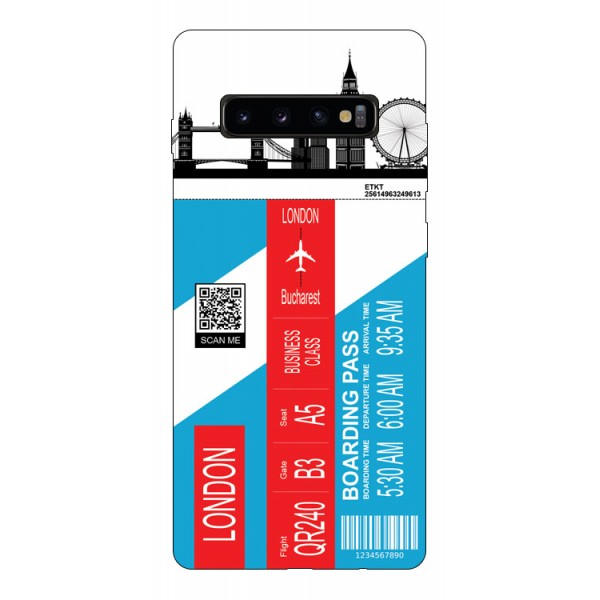 Husa Silicon Soft Upzz Print Travel Compatibila cu Samsung Galaxy S10 Model London imagine itelmobile.ro 2021