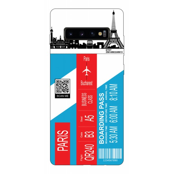 Husa Silicon Soft Upzz Print Travel Compatibila cu Samsung Galaxy S10 Model Paris imagine itelmobile.ro 2021
